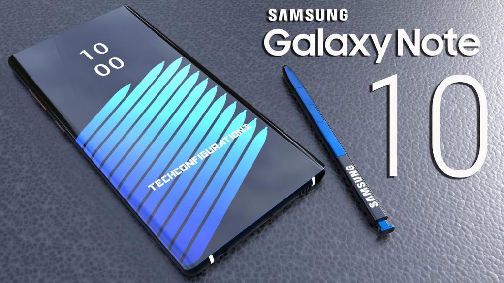 صفحه نمایش گلکسی نوت ۱۰ با نمایشگر ۶.۶ اینچی ۴K رونمایی خواهد شد