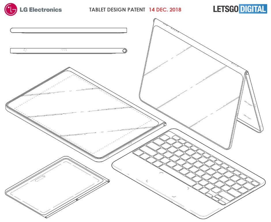 تبلت جدید LG با نمایشگر بدون حاشیه و کیبورد بی سیم