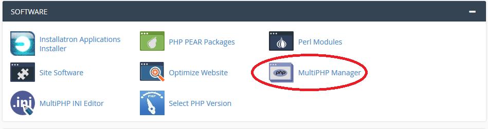 آموزش تغییر نسخه php در سی پنل توسط ابزار MultiPHP Manager