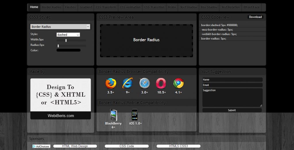 وب سایت های کاربردی مخصوص بهینه سازی و نوشتن کدهای CSS